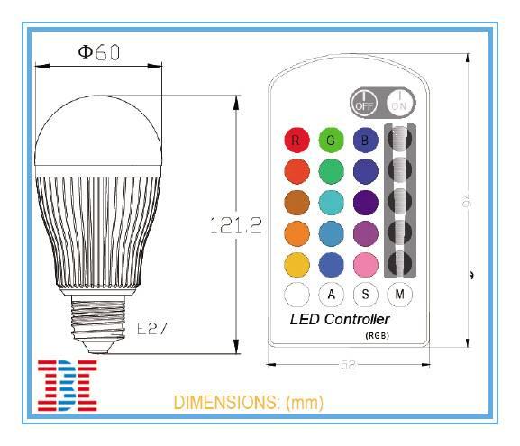 LED Remote Control Bulb