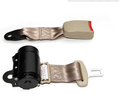 Universal retracable 2 points seat belt