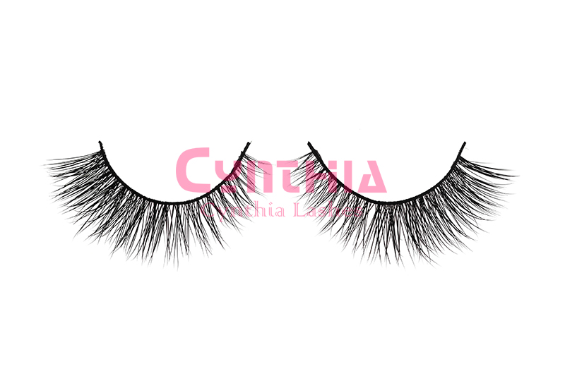 100% Real Mink Natural Thick False Fake Eyelashes Makeup Eye Lashes