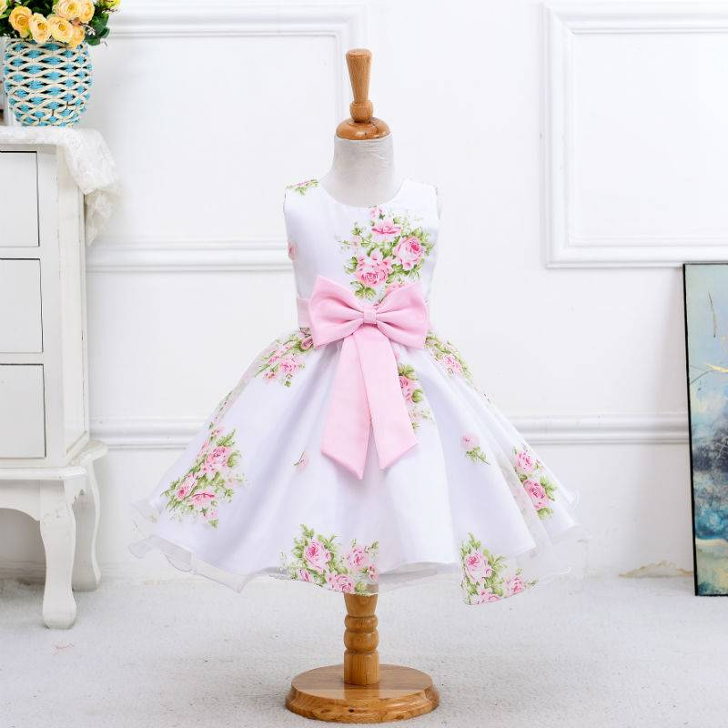 2016 hot sale wholesale summer flower girl dress