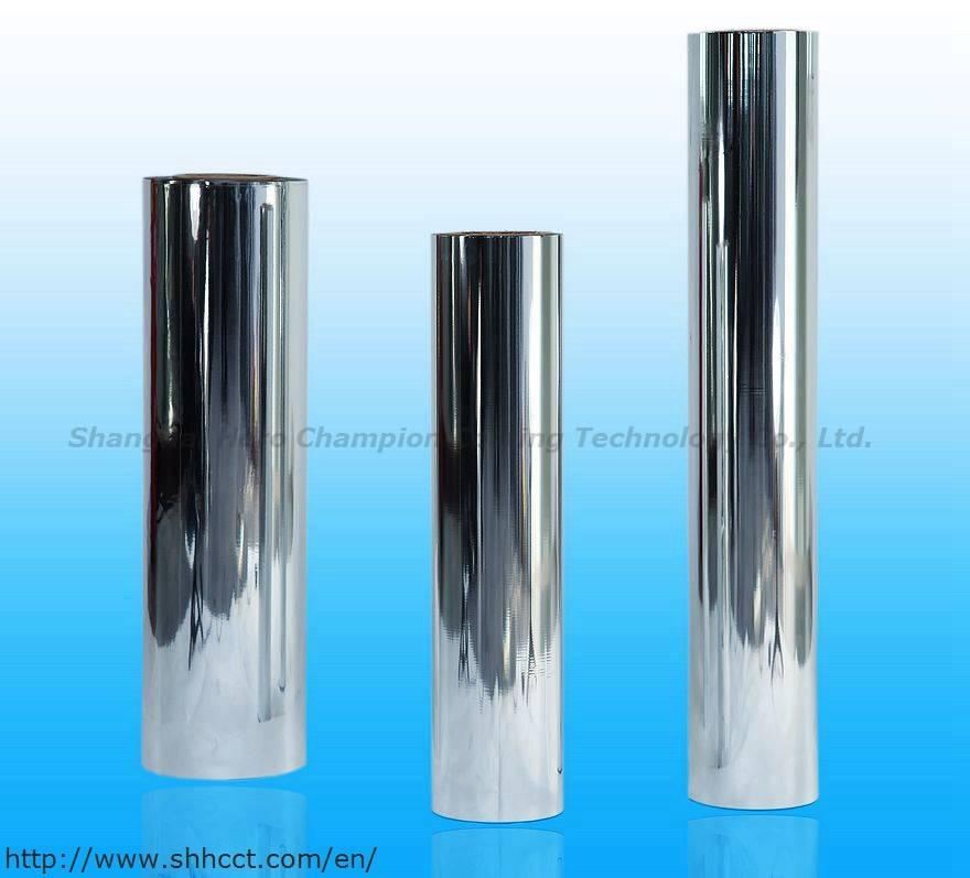 chemical treated/coated metallized pet film enhanced film Acylic coating film
