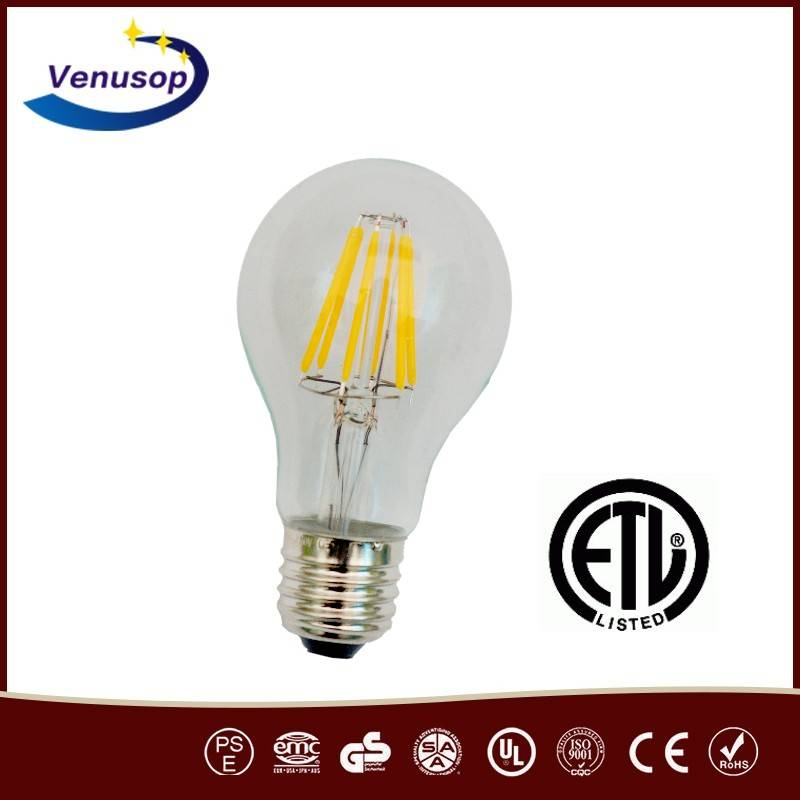 E26 BASE Clear Glass led Vintage style Edison filament light bulb