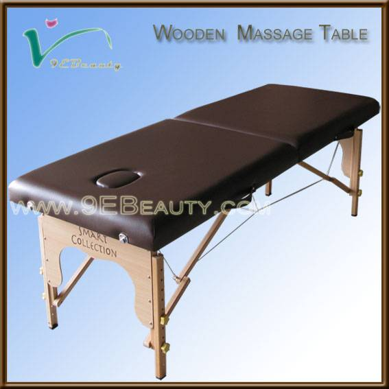 hotel outdoor wooden massage bed