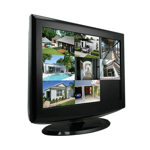 "15"" LCD Monitor Built-in 8 CH H.264 Real-time DVR - iPhone & Android"