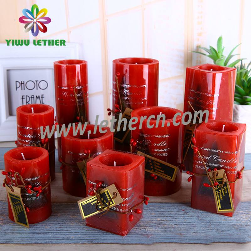 Nice Scented Pillar Candles Square Candles for Christmas Festival