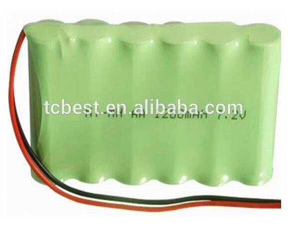 7.2V NI-MH pack rechargeable battery 1200mah