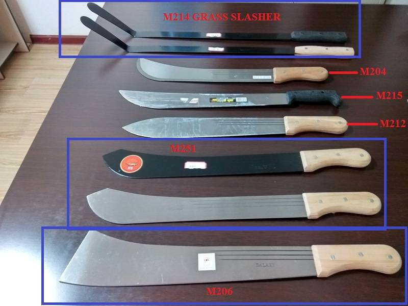 2016 best selling stock cheap Wooden handle and plastic handle sharpening sugar cane machete