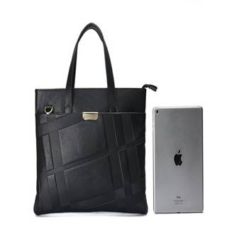Hautton Classic stlye men leather black Briefcase  bag DB267
