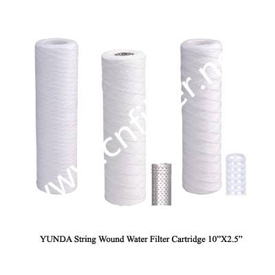 PP sediment string wound water filter cartridge