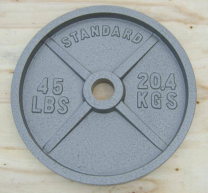 Hot!!! Olympic Paiting Cast Iron Weight Plate