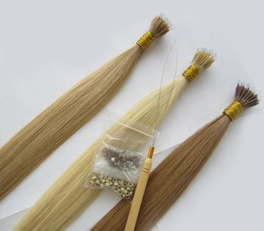 Factory Remy Virgin Human Hair 20 Inch Micro ring russian Human Hair Extensions