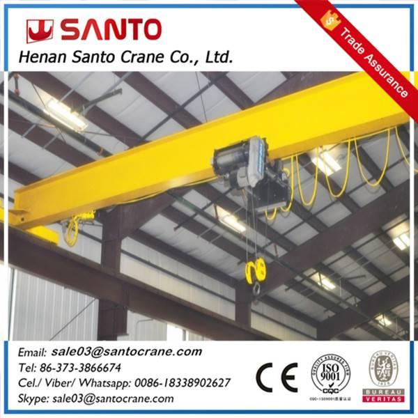 Electric LDA model single girder overhead crane with electric hoist