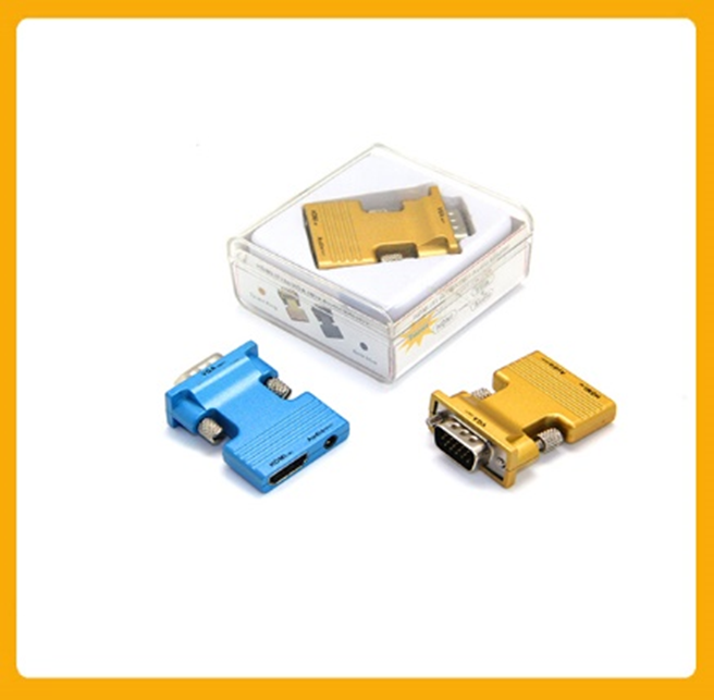 HOT SALE HDMI female to VGA male Adapter( with Audio output)