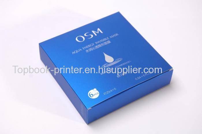 Top-grade PANTONE Trans.Wt silver-stamping OSM mask packaging box