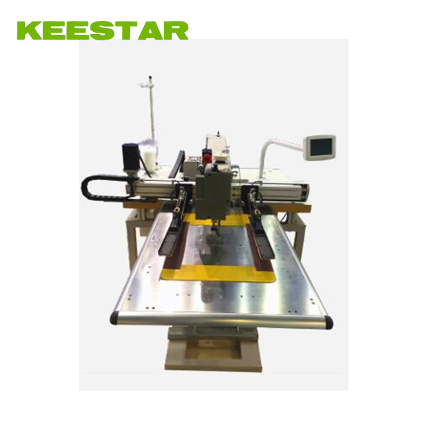 Keestar KCP-F flat bed computer pattern container bag loops sewing machine