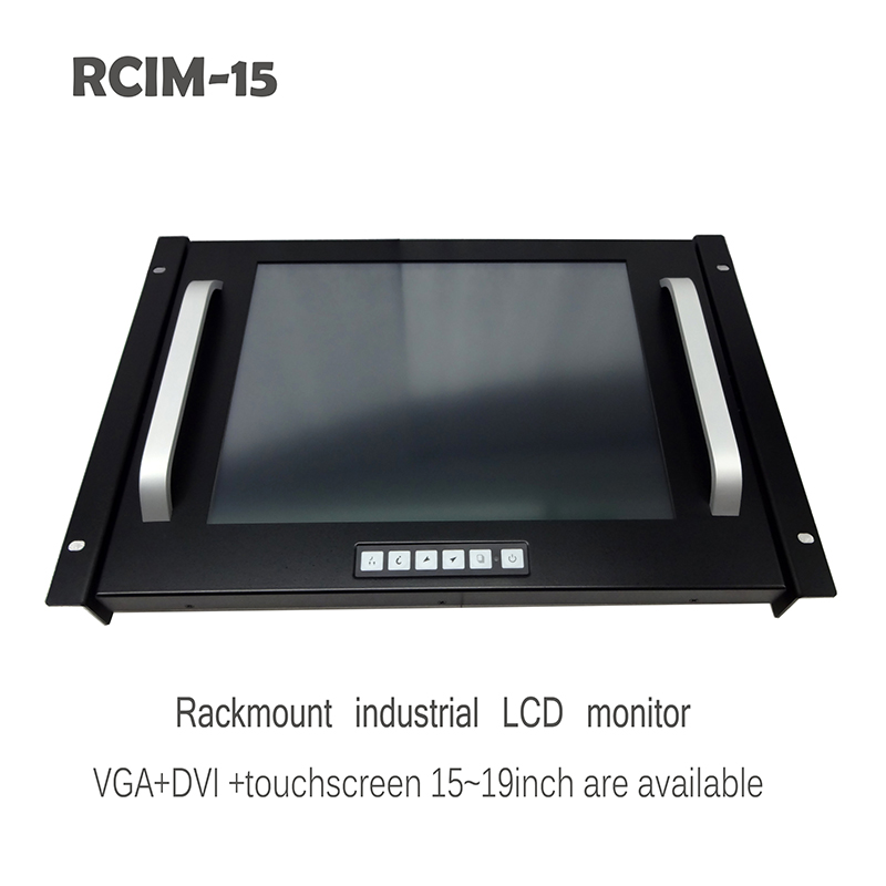 15 Inch Rack Mount LCD Industrial Monitor Display with Touch Screen