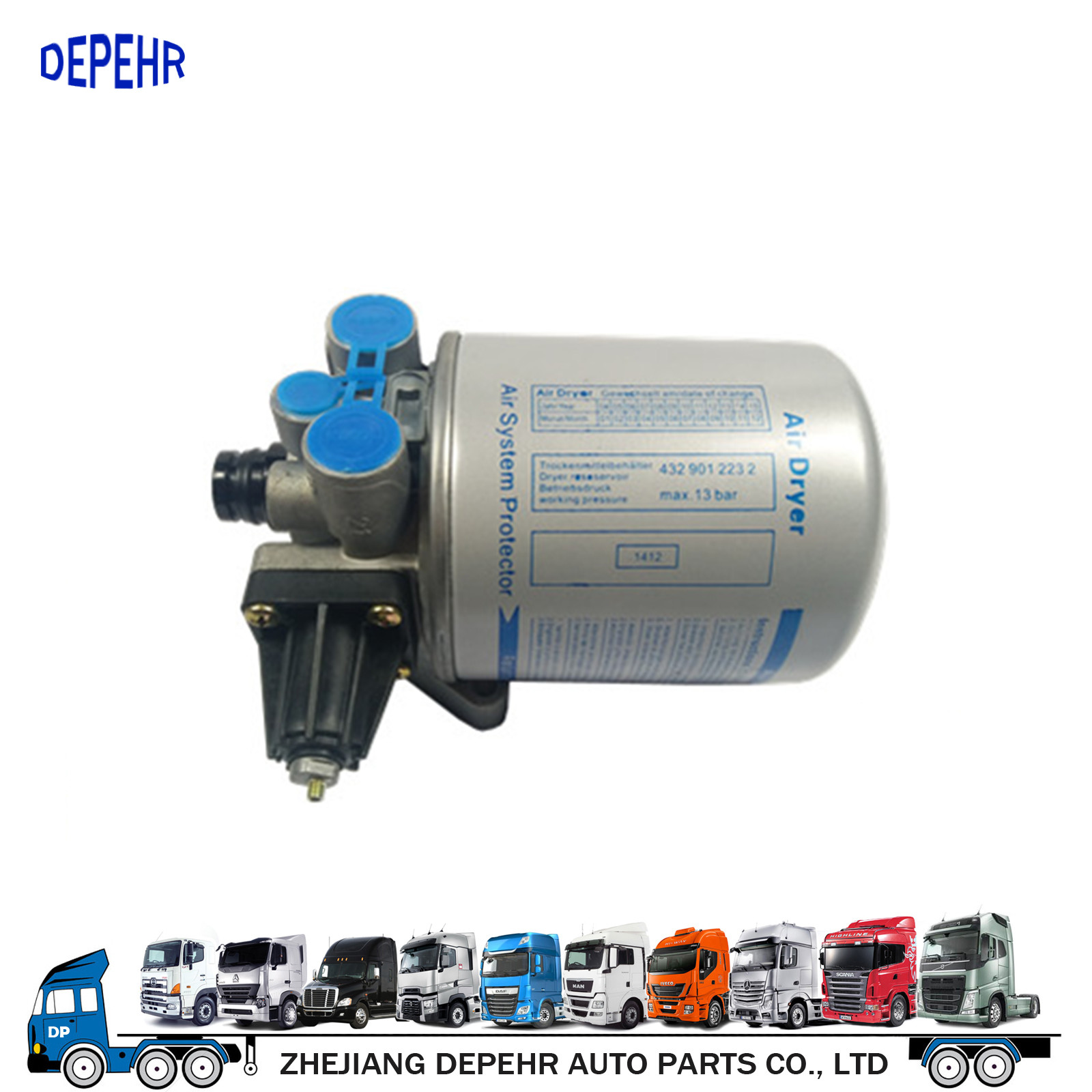 Heavy Duty European Truck Brake Part VOLVO FH/FM Truck Compressed Air Dryer Assy 20410156 4324101910
