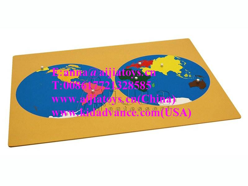 Montessori Puzzle Map of World Parts,montessori material toys