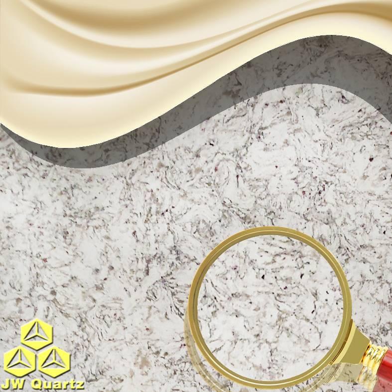 JW-6818 Salt Lake-Heat Resistant Quartz Stone Slab for Countertop