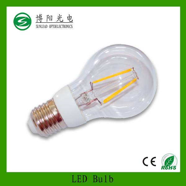 2015 new products in doed bulb 4w led filament bulb