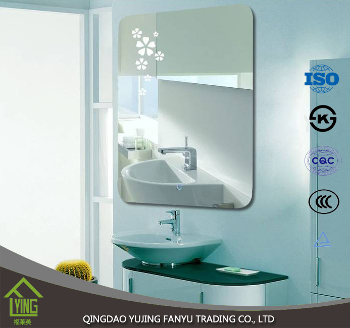 beveled silver mirror clear sheet/float glass with competitive price