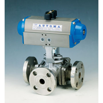 3-WAY FLANGED BALL VALVE - DOUBLE AUCTING