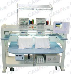 CAMFive Commercial Embroidery Machine 02 Head 12 Color Sequin Logos Names Design