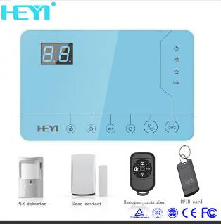 Touch screen GSM security alarm system