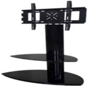 black classic glass tv stand