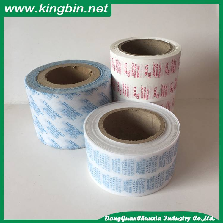 Heat sealing silica gel non woven fabric packing paper