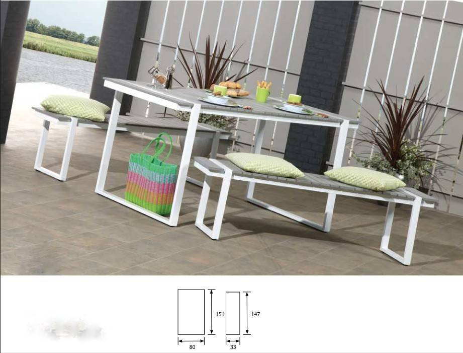 Graden bench and table