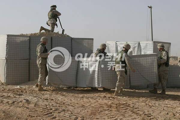 Military blast barriergalvanized armament hesco barrier cages Qiaoshi{Hesco Barrier}