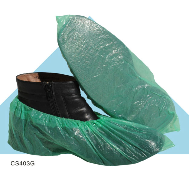 disposable plastic ketchen shoe cover anti slip protection shoes covers