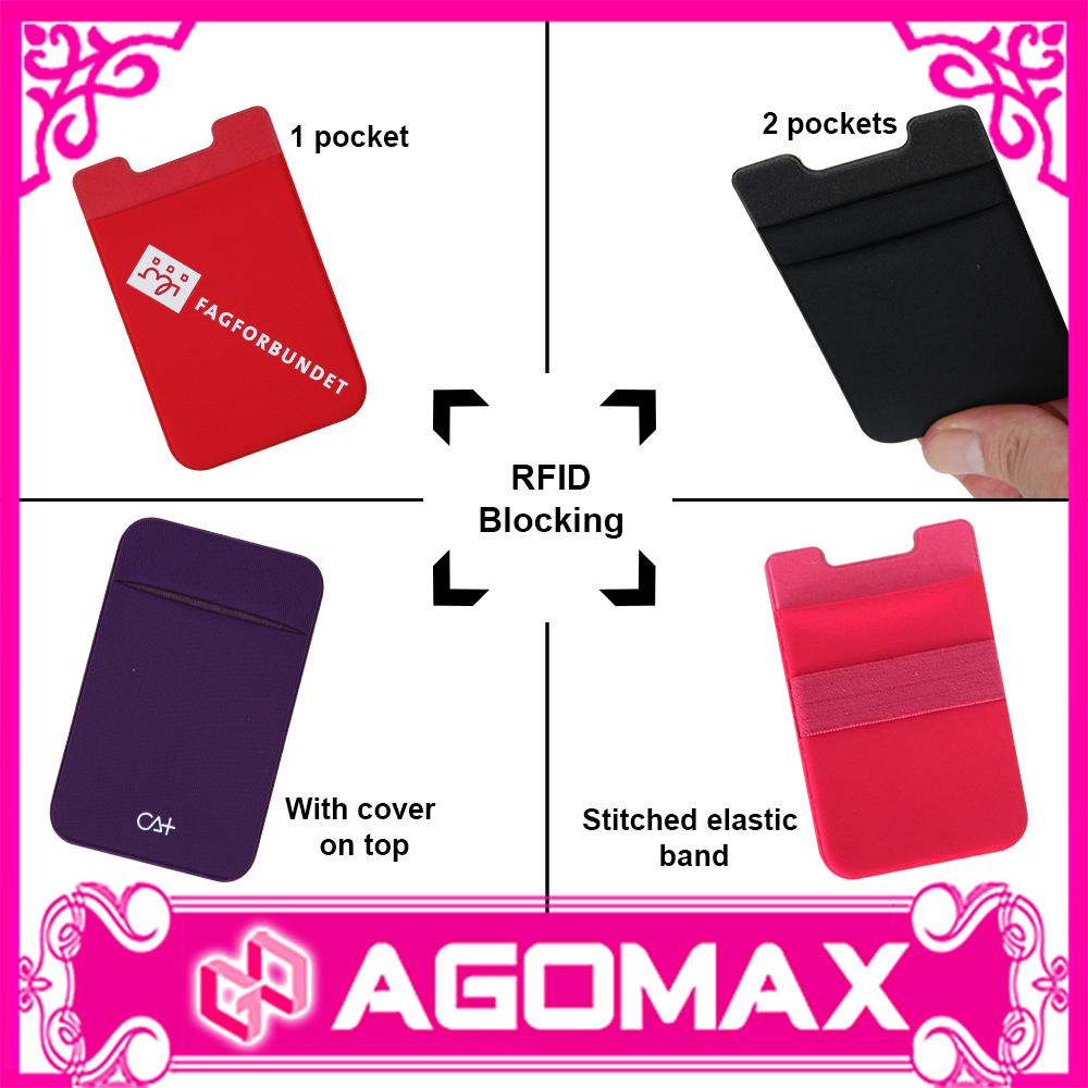 3M sticker cell phone credit card holder wallet lycra mobile smart pocket