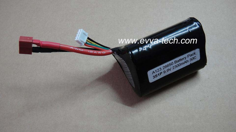 A123 26650 9.9V 2300mAh Battery pack for RC