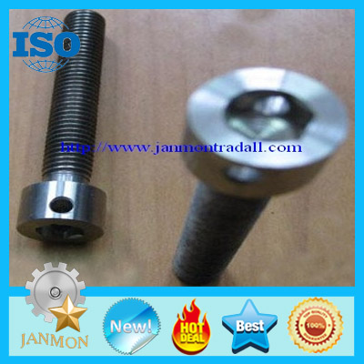 Customized Special Hex Head Socket Bolt With Hole(as drawing),Colored