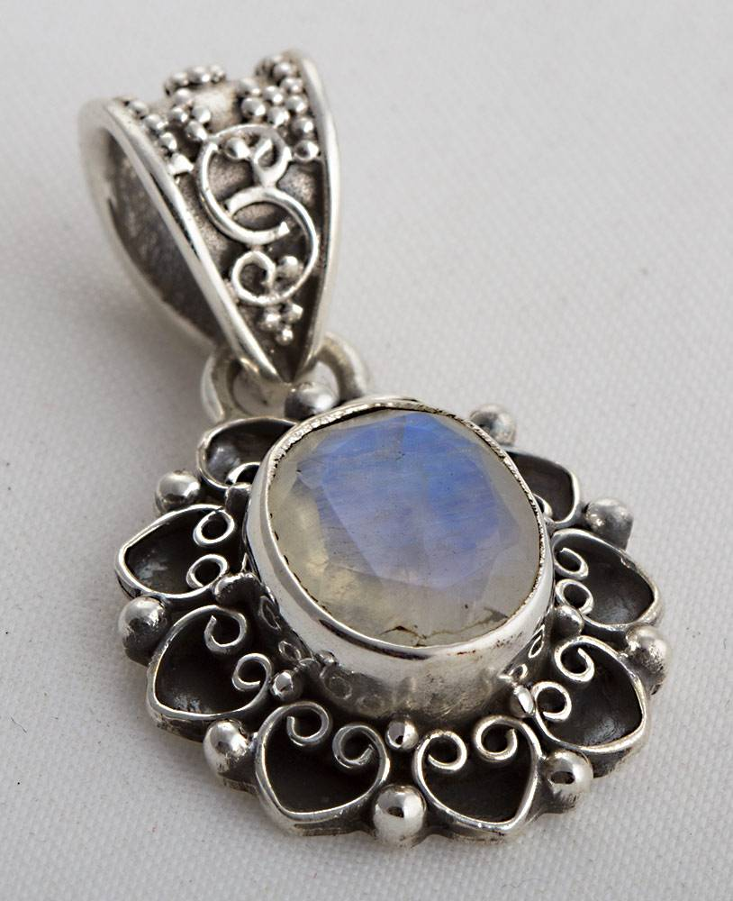 92.5 sterling silver Moonstone pendant