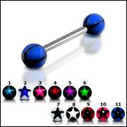surgical steel tongue barbell ring body piercing jewelry
