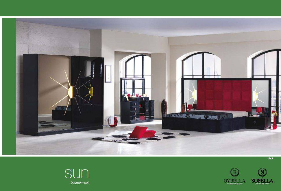 Sun (Black) Bedroom set