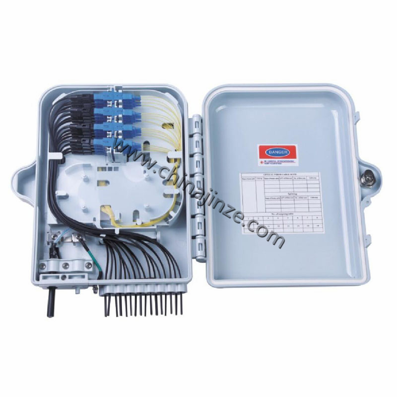 16 core fiber optic distribution box or With Pigtails