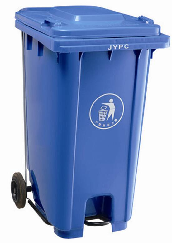 plastic trash bin, trash can, garbage bin, garbage can, wastebin,