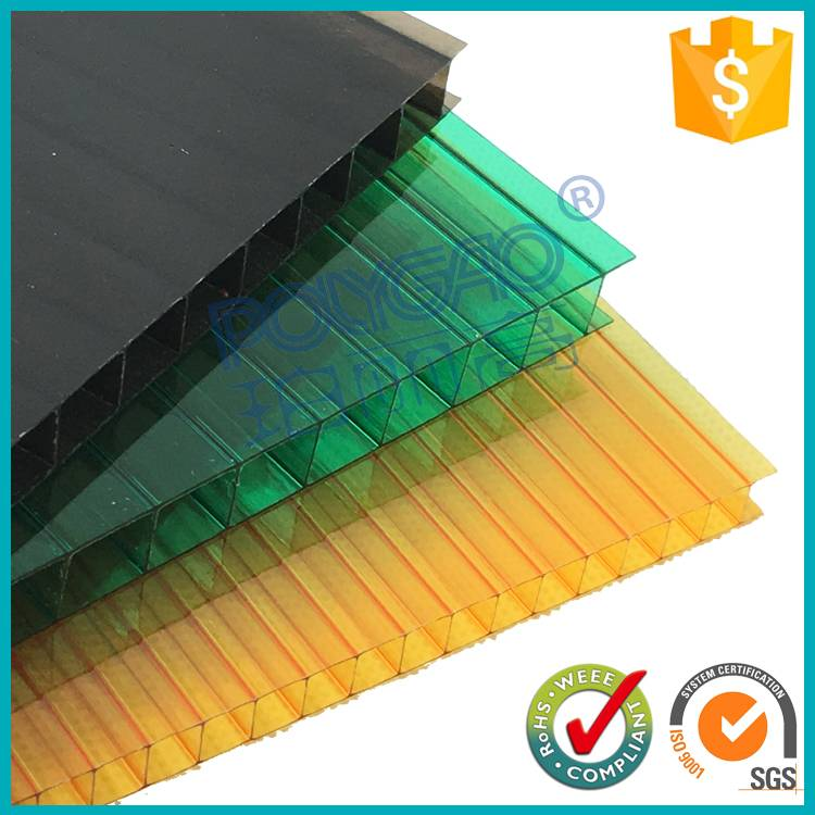 polycarbonate double wall hollow plastic sheet price
