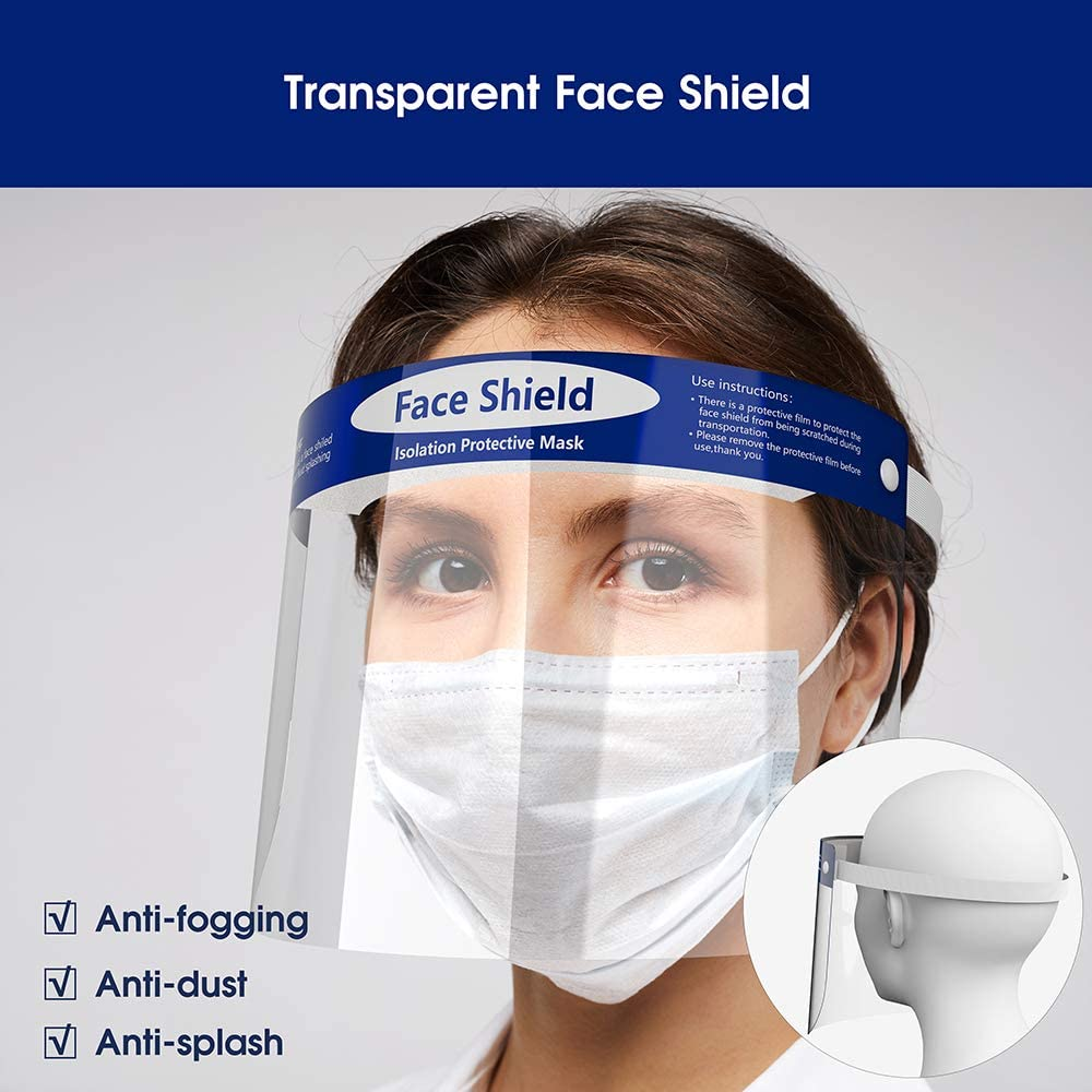 personal protective equipment face shield in stock