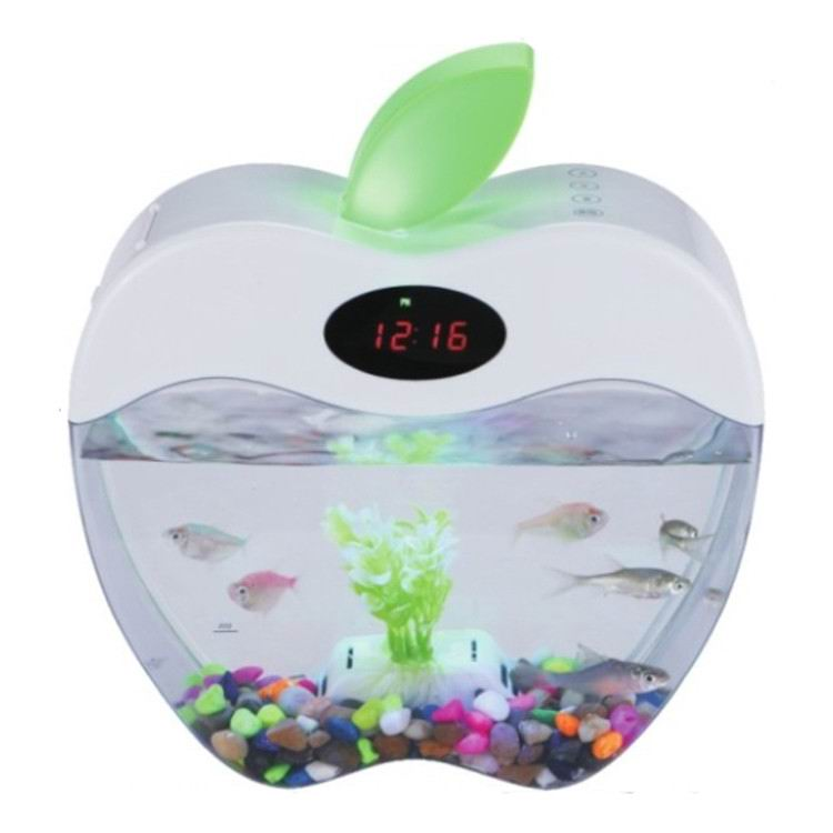 KangWei KW2015A Mini acrylic fish tank aquarium rack thermometer bekas pakai