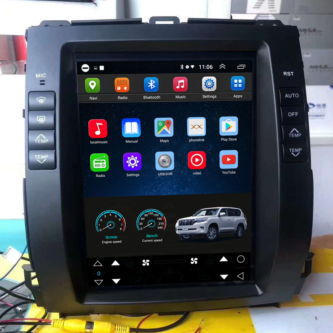 Vertical Screen 10.4 Inch Android Car Multimedia Navigation For Toyota Prado 2002-2009