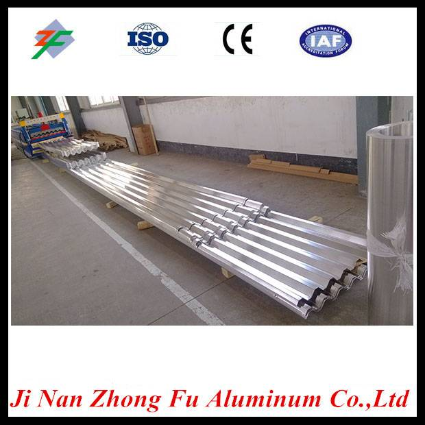 Chinese price of corrugated aluminum roofing sheet with standard design