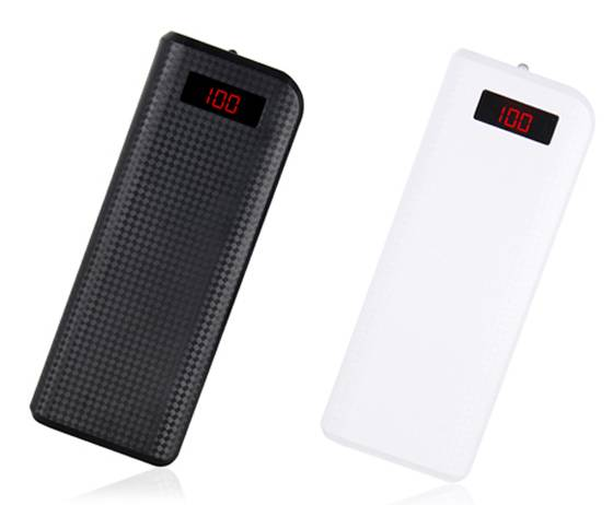 SJ-Y156D   13200mAh  textured LCD strong capacity high quality dual USB portable powerbank  with LED