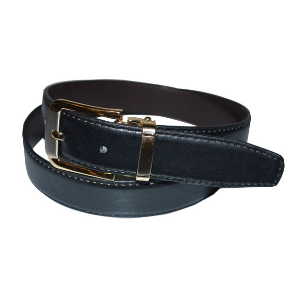 Popular Factory Price Simple Style Black PU Leather Man Belt [JB17084-1-MB]