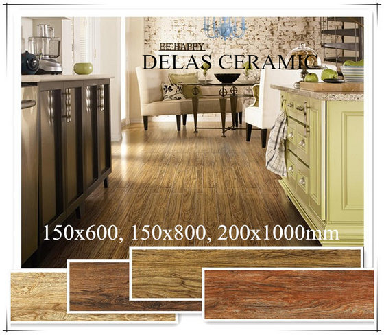 150x600 200x1000 Rough Surface Wood Porcelain Tile Philippines Price For Restaurant Kitchen Floor