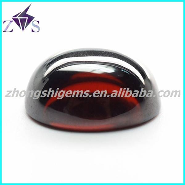 Cabochon Oval Cut Zirconia Gemstone